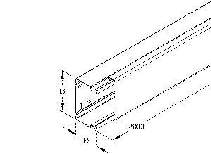 niedax llk60 150 leitungsschutzkanal metall 1040617. Black Bedroom Furniture Sets. Home Design Ideas